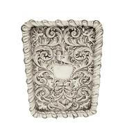 Antique Edwardian Sterling Silver 'Birds' Dressing Tray 1906 (6 of 10)