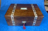 Victorian Rosewood Jewellery Box  With Inlay (8 of 15)