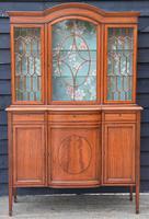 Superb, Fine Quality Edwardian Satinwood Display Cabinet c.1901