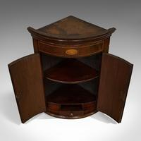 Petite Antique Corner Cabinet, English, Mahogany, Georgian Revival, Victorian (9 of 9)