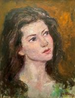 Wonderful Vintage Oil Portrait Painting of Italian Beauty from Maddalena (3 of 10)