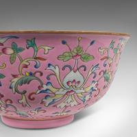 Antique Decorative Marriage Bowl, Chinese, Ceramic, Ceremonial, Dish c.1880 (11 of 12)
