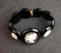 Victorian Whitby jet Cameo bracelet (11 of 12)