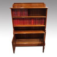 Pair Edwardian Walnut Open Bookcases (3 of 11)