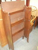 Folding Open Bookcase with Carved Upstand (3 of 4)