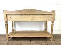 Large Rustic Pine Sideboard with Drawers (10 of 10)