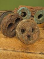 Antique Maritime Ship Deadeye Rigging Blocks & Scupper Ports, Old Wreck Salvage (3 of 13)