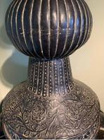 Very Substantial & Ornate pair of Lidded Storage Urns - North Africa (4 of 6)