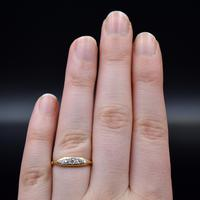 Antique Old Cut Diamond Five Stone 18ct Gold Scroll Ring (8 of 10)