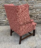 Victorian Mahogany Framed Wing Armchair (8 of 15)