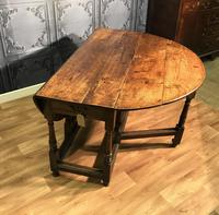 Georgian Oak Drop Leaf Table (4 of 11)
