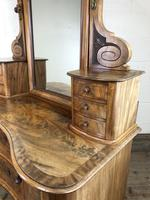 Antique 19th Century Concave Mahogany Dressing Table (17 of 21)