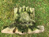 Architectural Feature Medieval Style Stone Cherub Acanthus Scroll Crown Corner Garden Corbel (7 of 13)