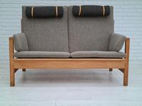 Børge Mogensen sofa, model 2252, completely renovated, furniture wool, 70s (5 of 20)