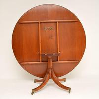 Antique Regency Style Inlaid Mahogany Tillman Dining Table (4 of 10)