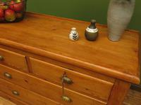 Antique Large Victorian Rustic Pine Sideboard Chest of Drawers (9 of 12)