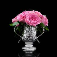 Georgian Solid Silver Loving Cup / Two Handled Cup - London 1748 (10 of 28)