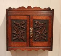Victorian Carved Wall Cabinet