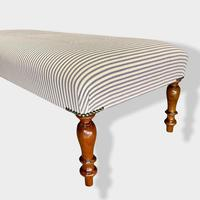19th Century Low Buttoned Footstool (7 of 7)