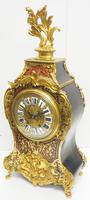 Rare Large Antique French Boulle Mantel Clock Ormolu Inlay 8 Day Mantle Clock (14 of 16)