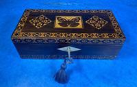 William IV Rosewood Glove Box with Superb Stickware & Tunbridge Ware Inlay (12 of 12)