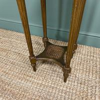 Small Country House Gilt Antique Occasional Table (6 of 6)