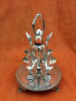Antique Silver Plate 4 Piece Egg Cruet Set C1880's Cooper Brothers 656 (12 of 12)