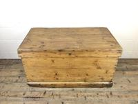 Large Victorian Antique Pine Trunk (2 of 14)