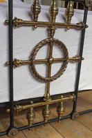 Very Nice  All Original Victorian Brass & Iron Double Bed (4 of 7)