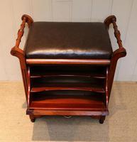 Edwardian Walnut Piano Stool (4 of 9)