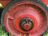 English Vintage Railway Willmot Trolley Oak Iron Plank Top Coffee Wheel Table (11 of 25)