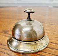 Victorian Brass Courtesy Counter Top Bell, Reception Desk Bell (4 of 5)