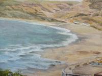 Oil on Canvas Cornish Seascape Artist M M Tomlinson (10 of 10)