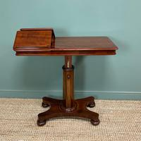 Quality Victorian Mahogany Double Sided, Reading / Music Table (5 of 8)