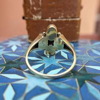 Vintage 9ct Yellow Gold Four Moonstone Cabochon Ring (4 of 9)