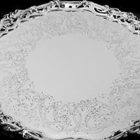 Exceptional Large Solid Sterling Silver Victorian Salver/tray/platter 47cm with Cast Border - Hunt & Roskell - Storr Mortimer & Hunt (8 of 29)