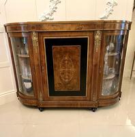 Quality Antique Victorian Inlaid Burr Walnut Credenza