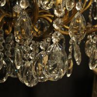 Italian Gilt & Crystal 21 Light Antique Chandelier (7 of 10)