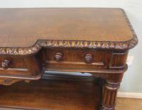 Antique Oak Victorian Shaped Sideboard Server (5 of 15)