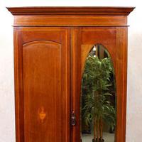 Edwardian Wardrobe Inlaid Mahogany Mirrored (4 of 10)