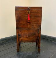 Rare & Fine 18th Century George III Figured Mahogany Drinks Decanter Bottle Cabinet (4 of 16)