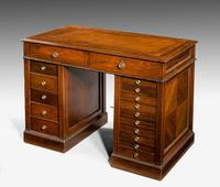 Late 19th Century Walnut Pedestal Desk (2 of 7)