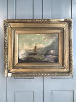 Antique Victorian marine seascape oil painting (1 of 2) (2 of 10)