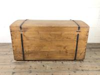 Large Antique Pine Dome Top Trunk (4 of 9)