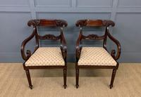 Excellent Pair of Regency Mahogany Scroll Armchairs (2 of 17)