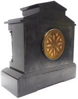 Antique French Slate & Green Marble Mantel Clock Striking 8-day (6 of 9)
