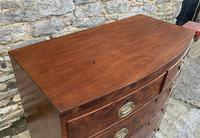 Regency Flame Mahogany Bow Front Chest of Drawers (11 of 17)