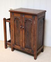 Edwardian Oak Hall Cabinet (9 of 10)