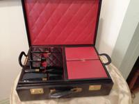 Gents Art Deco Leather Suitcase & Dressing Case (7 of 13)