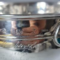 Rare Arts & Crafts Liberty & Co HM Silver & Enamel Cymric Bowl c.1905- Signed (9 of 14)